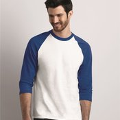 Heavy Cotton Three-Quarter Raglan Sleeve Baseball T-Shirt