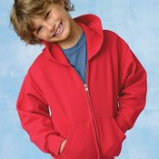 ComfortBlend® EcoSmart® Youth Full-Zip Hooded Sweatshirt