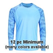 Mens Dri Fit Camo L/S Sun Shirts